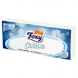 Foxy Cotton Ultra miękkie i wytrzymałe chusteczki 10 paczek