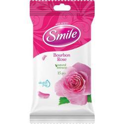 SMILE CHUSTECZKI NAWILŻANE ROSE 15SZT