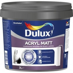 Dulux Acryl Matt 3w1 Superkrycie, Odporność na szorowanie, wydajność do 14m2/l – 5L