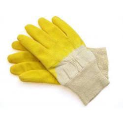 Rękawice robocze żółte, gumowe Grippe