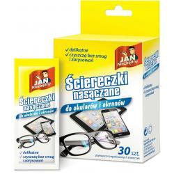 Ściereczki nasączane do okularów i ekranów 30 szt