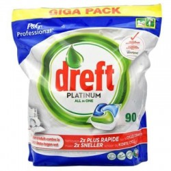 Tabletki do zmywarki DREFT Platinum All In One Giga Pack 90 szt