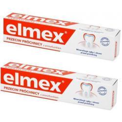 ELMEX - ZESTAW 2x PASTA do zębów PRZECIW PRÓCHNICY z aminofluorkiem 2x75ml