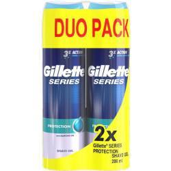 Gillette Series Protection Żel do golenia dla mężczyzn 2x200 ml