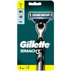 Gillette Mach3 Rączka maszynki do golenia + 2 ostrza wymienne