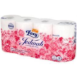 Foxy Jedwab papier toaletowy neutralny dla skóry 8 szt