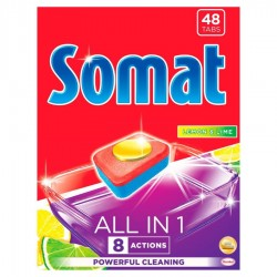SOMAT ALL IN ONE LEMON TABLETKI DO ZMYWARKI 48SZT